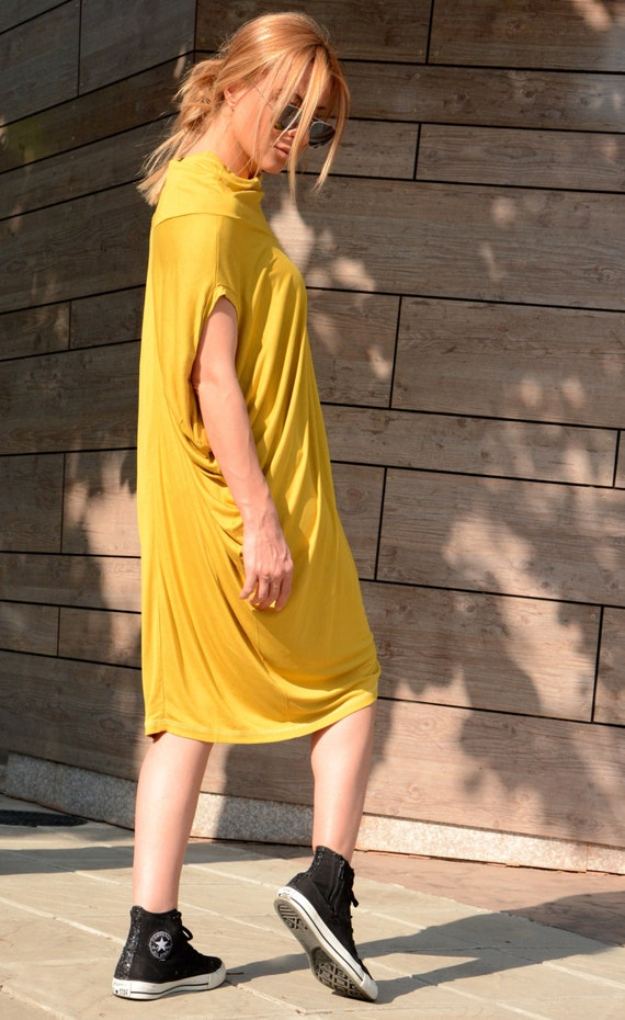 Dress Maxi Dress Dress Dress Size Loose Oversize Drape Dress Yellow Dress Sleeveless Beach Plus Dress Tunic Dress 7zqOw7f