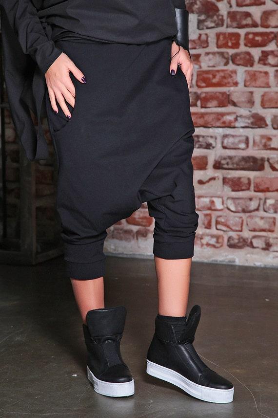 Asymmetric Pants Pants Plus Pants Pants Drop Trousers Pants Baggy Women Loose Maxi Size Black Pants Trousers Crotch Aladdin Pants 8xOYOUqwd