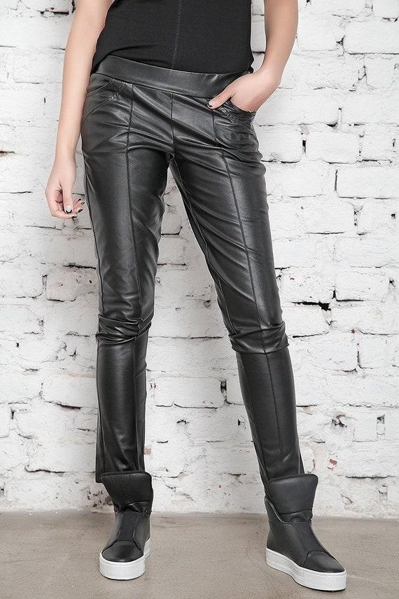 8581f0b1ea2861 Faux Leather Pants Leather Leggings Black Pants BDSM Sexy | Etsy