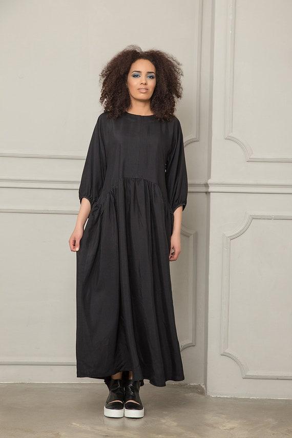 Long Clothing Black Loose Kimono Caftan Dress Dress Plus Dress Dress Kaftan Dress Maxi Women Dress Sleeve Maternity Size Dress Dress Zv7n0Bq8W