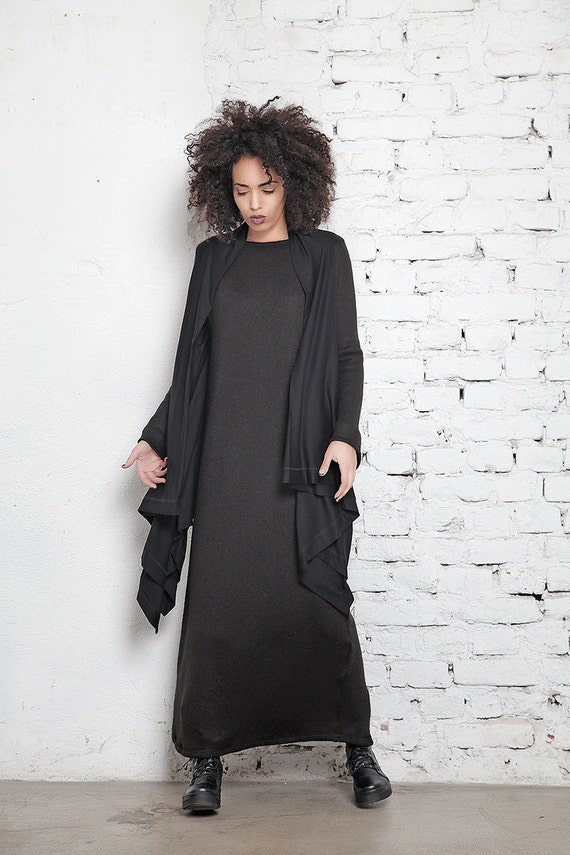 Vest Hooded Vest Casual Loose Oversized Vest Top Maxi Vest Cover Cape Kimono Vest Vest Size Extravagant Up Up Long Cover Plus Black agxxFq4wP7