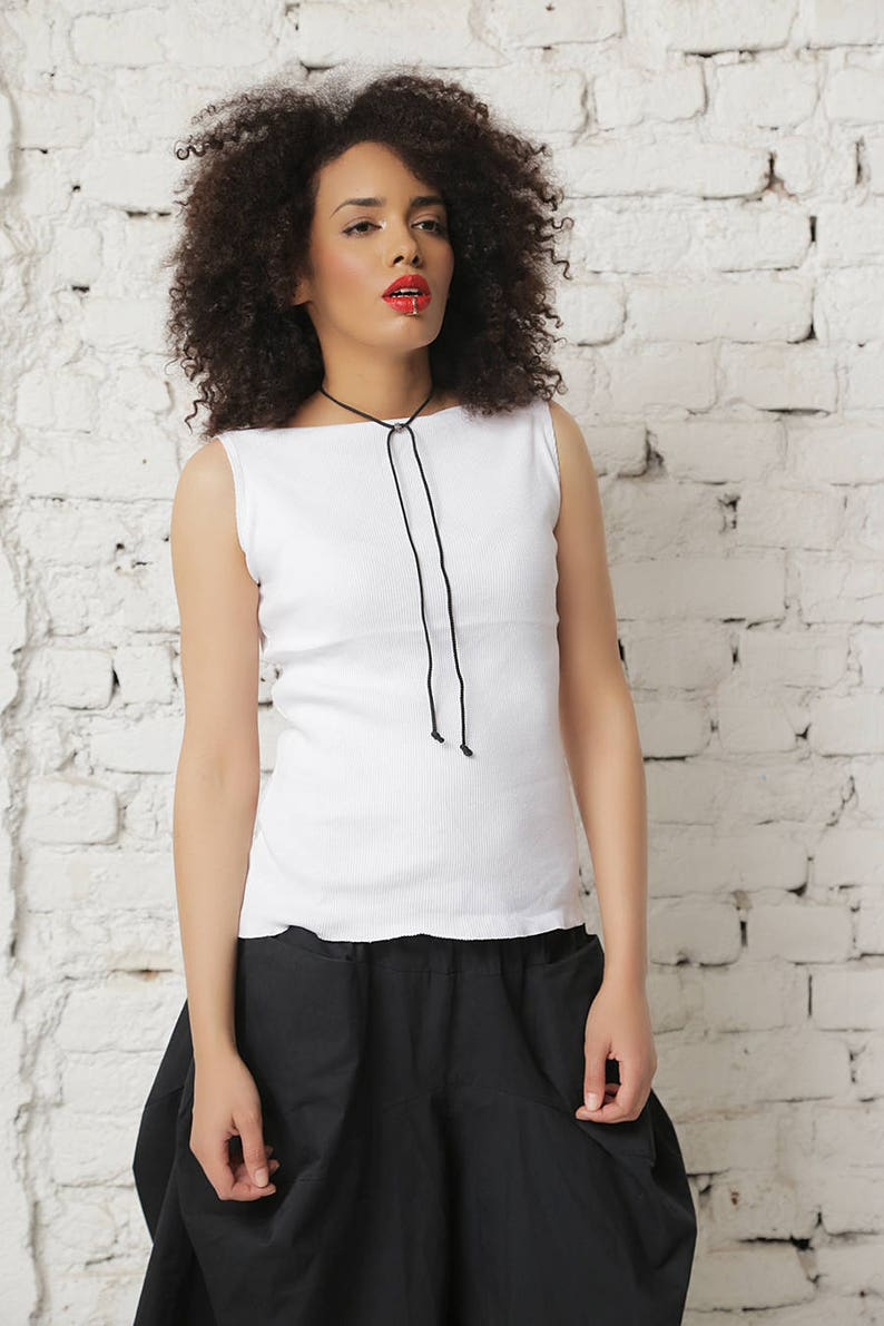 d4758a79353fb White Tank Top White Summer Top Plus Size Tank Casual Top