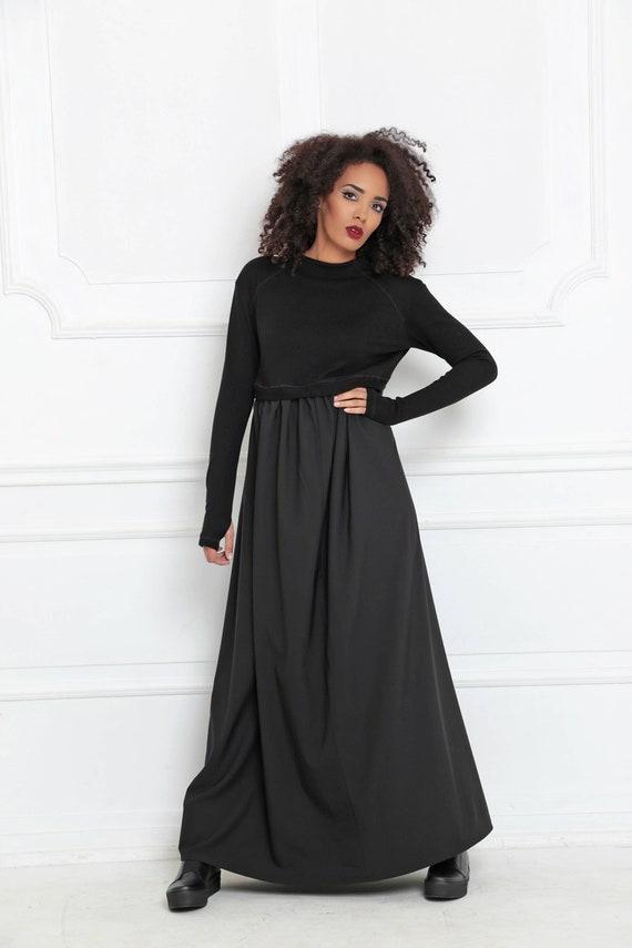 Frauen-Maxi-Kleid Winter Maxi Kleid Abaya Kleid lange   Etsy 0c6fcaaf10