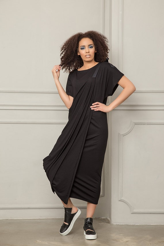Size Dress Convertible Dress Maxi Plus Maxi Extravagant Dress Maxi Plus Size Urban Dress Dress Oversized Kaftan Black Dress Summer ZdORwCq