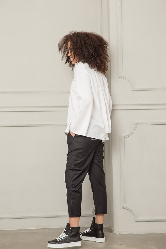 Shirt Top Oversized Long Linen Blouse Plus Top Linen Linen Sleeve White Shirt Top Shirt Linen Women White Size Shirt Women Clothing qXwASfZZ