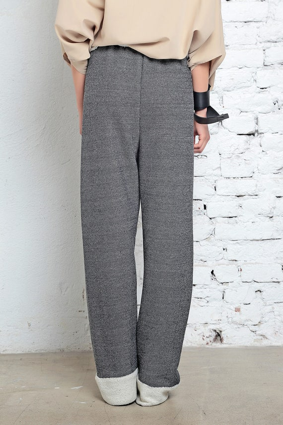 Gray Cotton Pants, Stretched Pants, Yoga Clothing, Maxi Trousers, Spring Pants, Long Trousers, Fashion Pants, Elegant Trousers, Maxi Pants