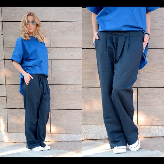 Pants Plus Baggy Pants Leg Straight Trousers Palazzo Women Linen Pants Pants Loose Trousers Size Loose Harem Pants Pants Wide Pants R4nqFx