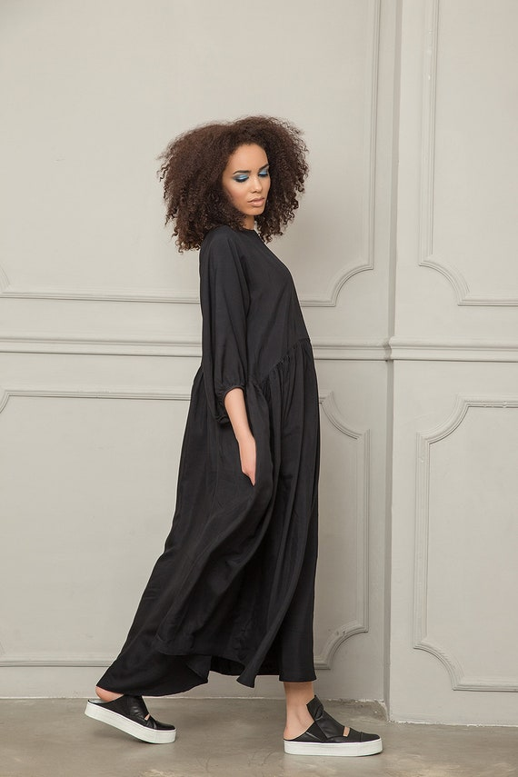 Plus Kimono Sleeve Maxi Maternity Caftan Dress Size Loose Dress Dress Long Black Dress Dress Dress Dress Dress Clothing Women Kaftan O1Oqfg8wxX