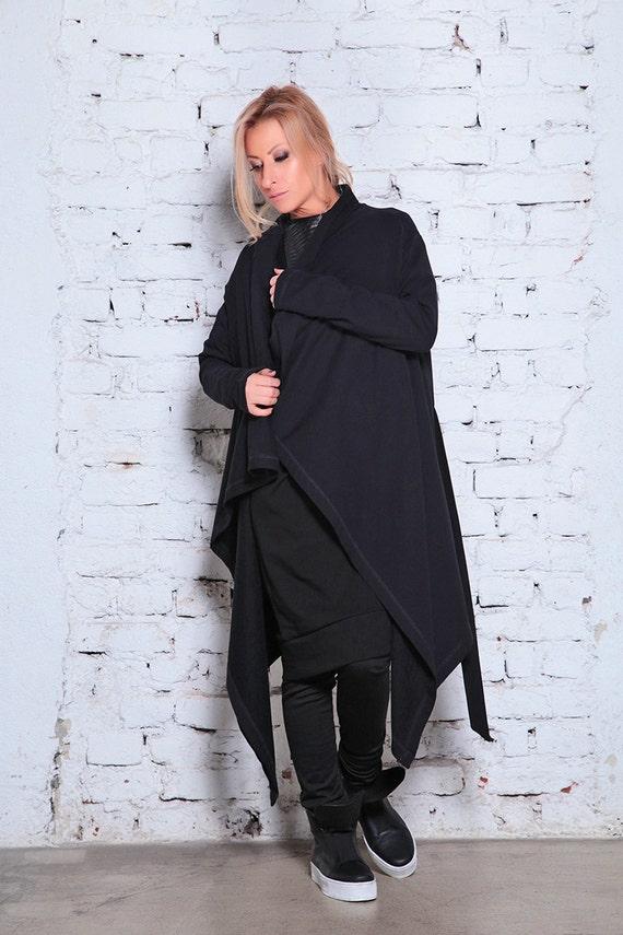 Cardigan Loose Maxi Cardigan Vest Asymmetric Womens Cardigan Black Black Oversize Quilted Vest Cardigan Vest Asymmetric Vest Vest xHIdwZHr