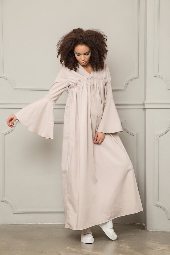 Kimono Dress, Maternity Dress, Maxi Dress Sleeves, Plus Size Maxi Dress,  Japanese Clothing, Satin Dress,Extravagant Dress,Boho Wedding Dress