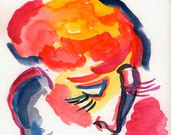 Schilderen huis kamer decor fine art poster kleurrijke etsy