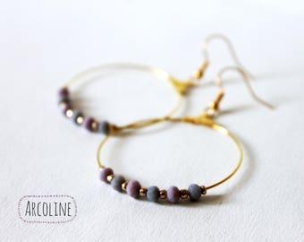 Pastel Pearl hoop earrings