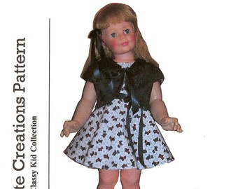 UNCUT Barbara Jo and other 32 Dolls dress Coat and bonnet HTF Clothes for Playpal Simplicity 3661 S3661 pattern