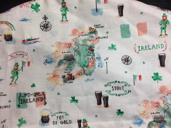 Watercolour Map of Ireland Surgical Scrub Hat Women s St  dc8c4fc4e1ee