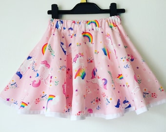 0d26ad57d unicorns, girls unicorn skirt, rainbows, pink, blue, kids clothes, twirly  skirt, full circle skirt, toddler, magical, pony, horses, rainbow