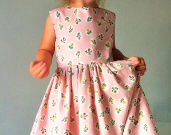 Vintage Stil Kleid Baby Madchen Kleid Gelb Blumenmadchen Etsy