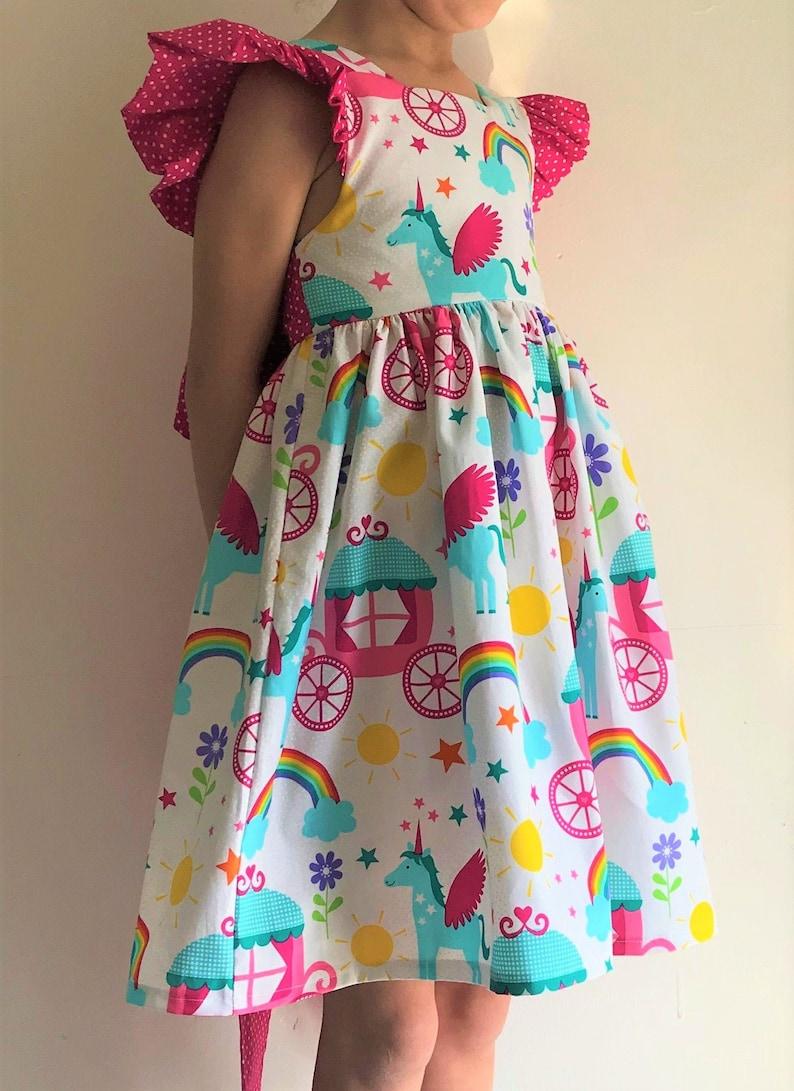 Einhorn Kleid, Mädchen Partykleid, Regenbogenkleider, Einhörnchen,  Kinderkleidung, Regenbogen, besonderer Anlass, Prinzessin, Blumenmädchen,  ...