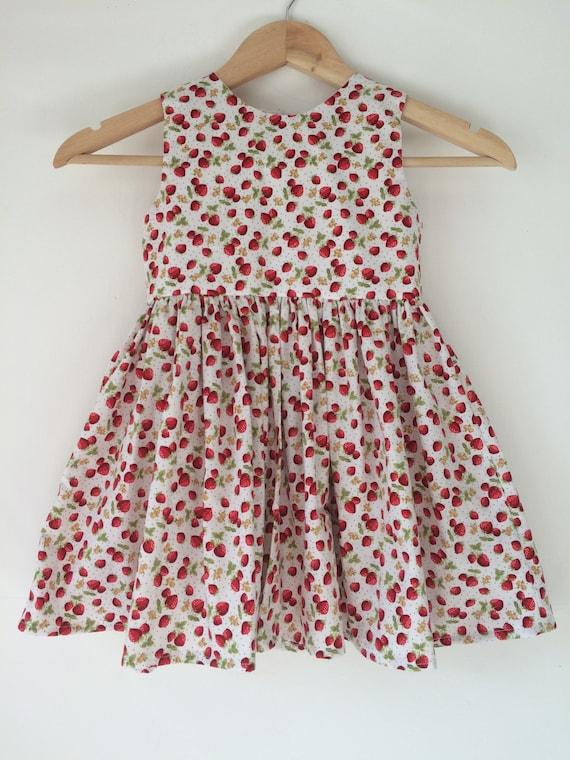 53ce9d985 Strawberry dresses girls dress strawberries baby girl kids | Etsy
