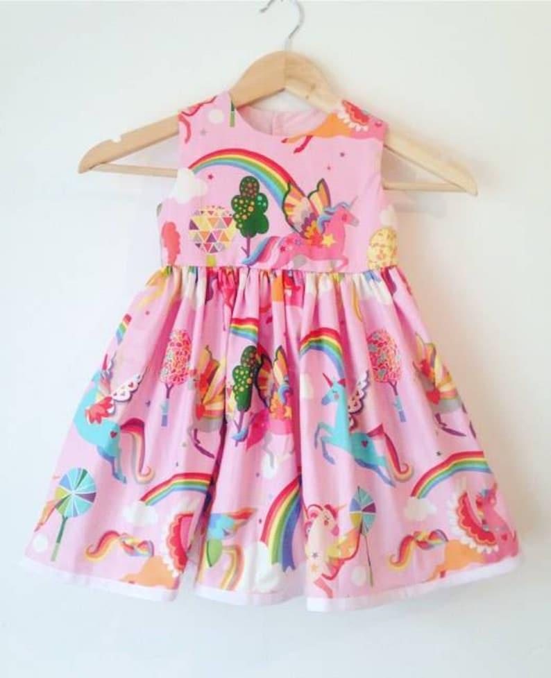 girls dresses baby girl kids clothes birthday dress party dresses rainbow dress summer wear pink unicorn dress unicorns and rainbows