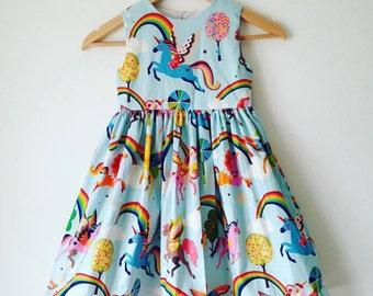 magical unicorn, girls unicorns dress, rainbows and unicorns, girls handmade dress, kids clothes, girls dresses, toddler, babies dress, baby