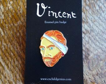 Vincent Van Gogh Enamel Pin Badge. Fantastic Full Colour Bronze Metal Pin. Very Nice Item.