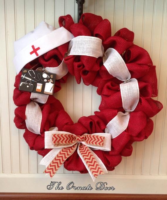 Nurse Wreath Medical Wreath Made To Order School Nurse