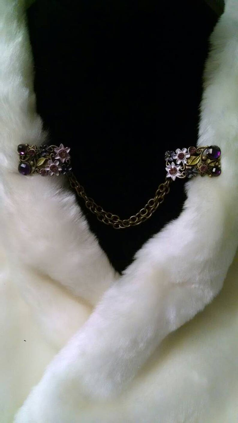 Cloak clasps bronzepurplesgreen