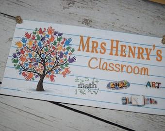 A113 Teacher Classroom Gift Plaque Sign