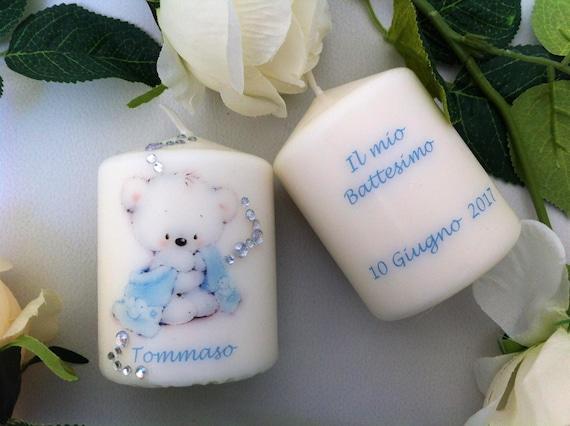 Eccezionale Candele bomboniere per battesimo personalizzate. | Etsy BK21