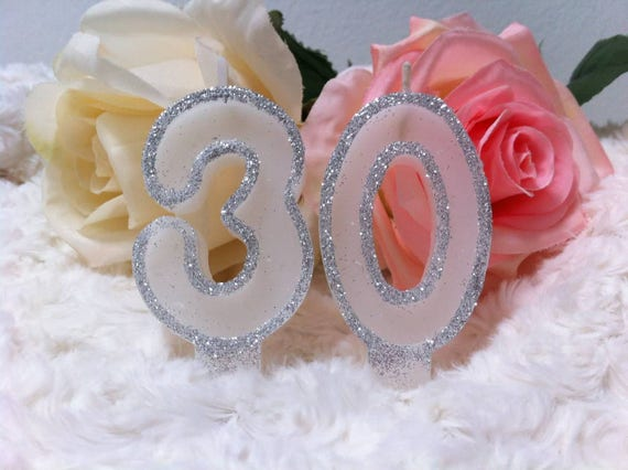 The Numbers Birthday Candles Painted With Stylized Flowers