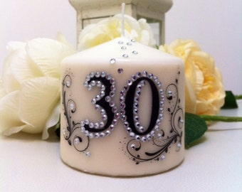 Birthday candle for 30 years.