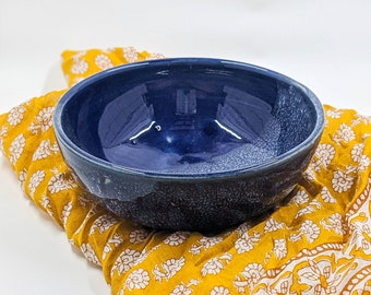 Ocean Waves ||  Single bowl, blue, sea, ceramic bowl, handmade, pottery, snack bowl, clay