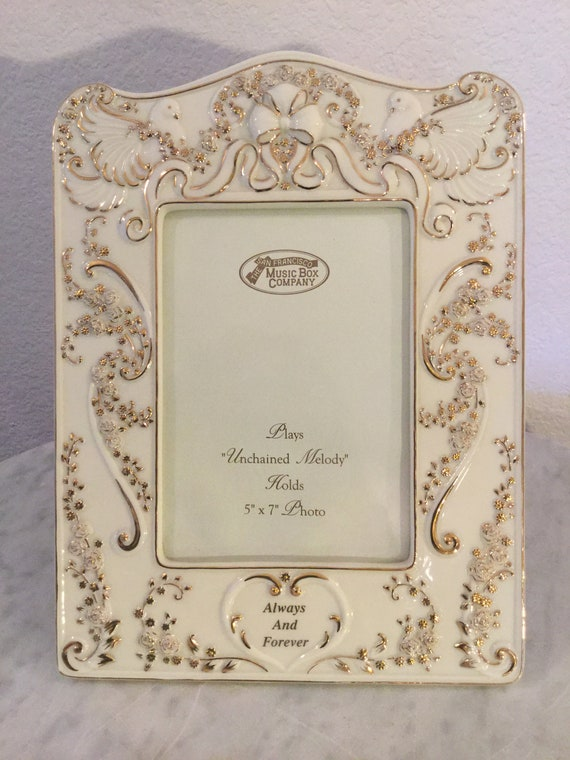 Unchained Melody Black Vintage Rectangle Music Box