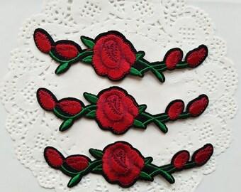 Rose embroidered vans | Etsy