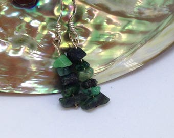 Emerald earrings (May birthstone)