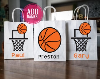 Basketball Birthday Favors Basketball Party Bags Basketball Personalized Favor Bag Basketball Bags Basketball Favor Bags Sport Favors