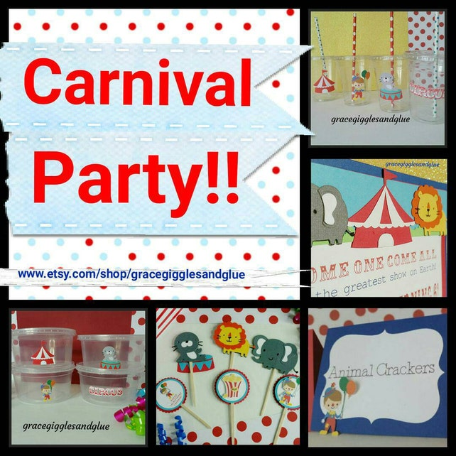 10 Carnival Circus Themed Invitations Circus Baby Shower Invitations