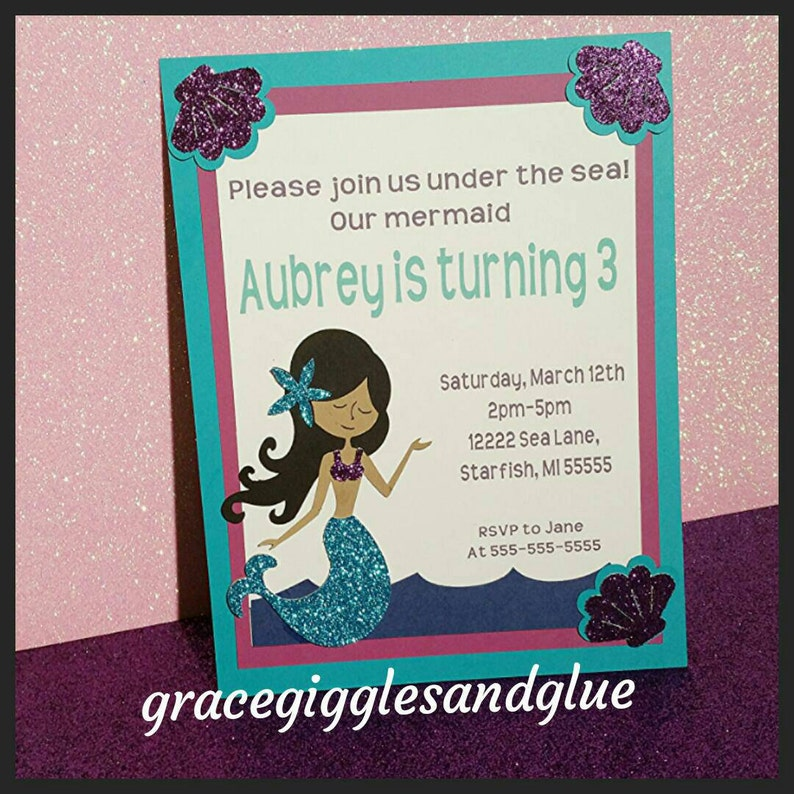 Under The Sea Cupcake Toppers 12 Glitter Mermaid Cupcake Toppers Baby Shower Cupcake Toppers