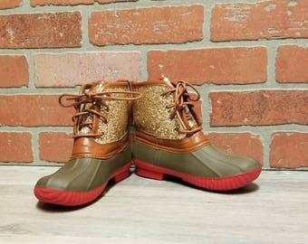 09e3d5157c93 Girl's Glitter Duck Boots