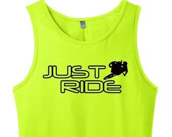 Just Ride Motocross Tank Top Singlet MX Moto Supercross