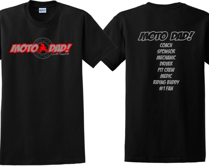 Featured listing image: MOTO DAD T Shirt Motocross Just Ride MX Dirt Bike Father Motorcycle