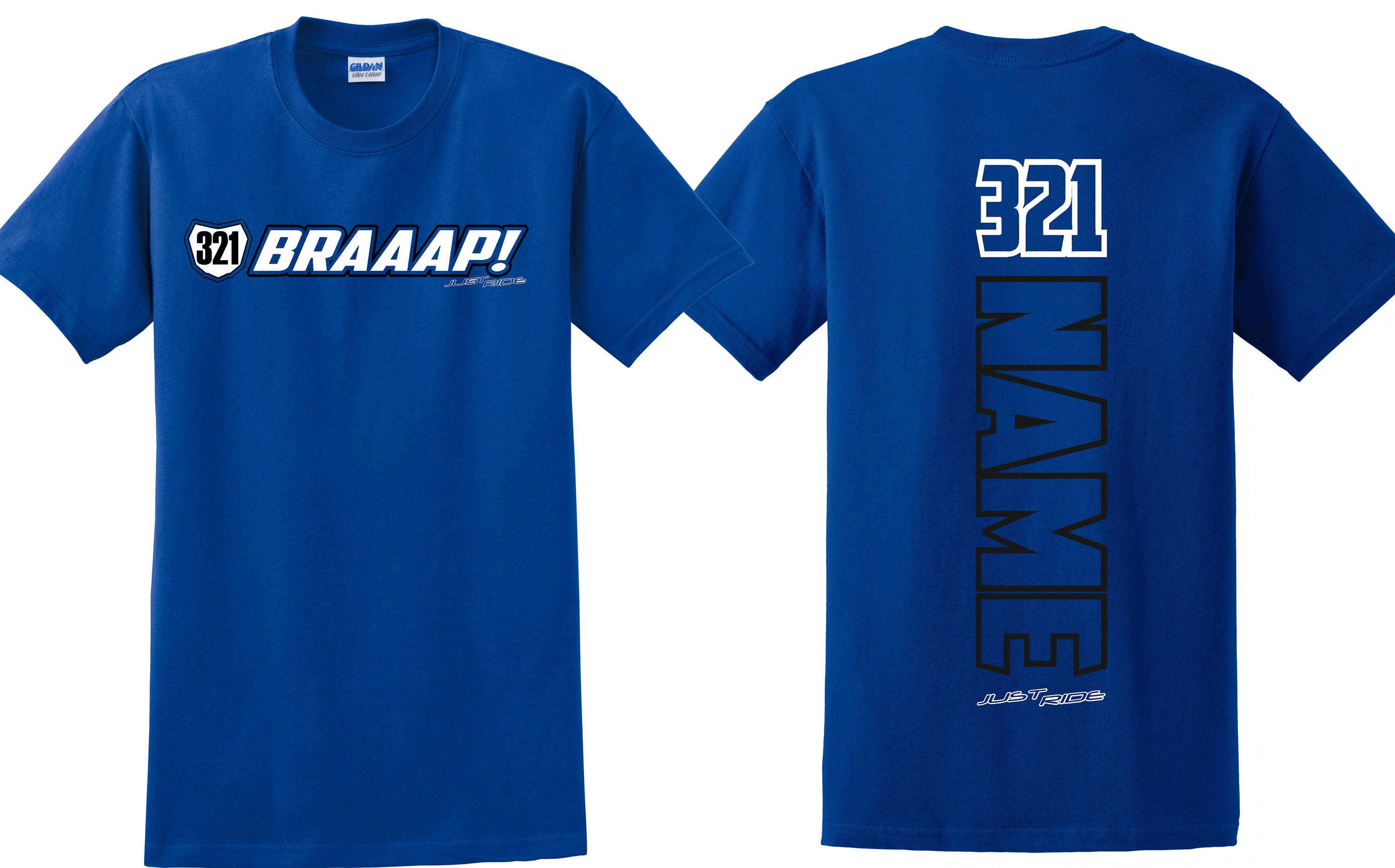 7a6d542a Braaap! Motocross Number Plate T Shirt Just Ride MX Moto Race Braap