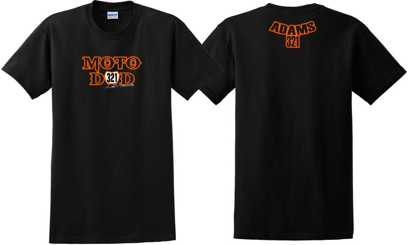 6fb9ac559 MOTO DAD number plate T shirt motocross just ride MX Dirt Bike | Etsy
