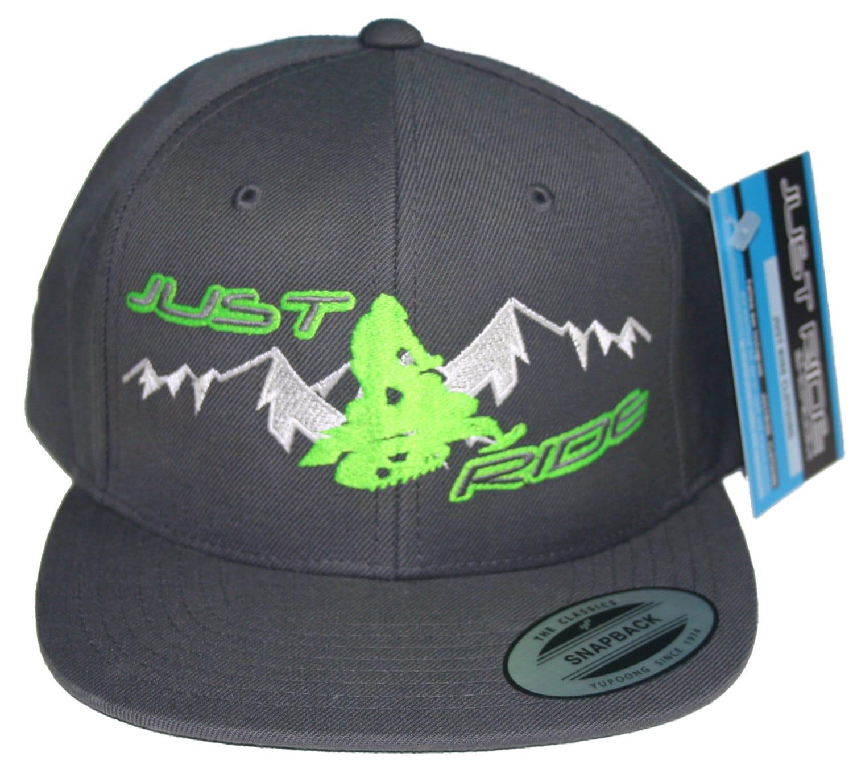 fdfabfc9d00 Just Ride Sled Snowmobile Hat Cap Flat Bill Snapback Braaap Snocross ...