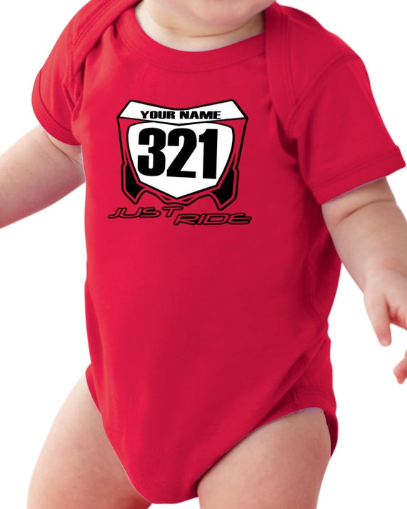 Tshirt Shirt Baby Print moto ktm Custom Baby Name and Number Bambini 2 - 16 anni