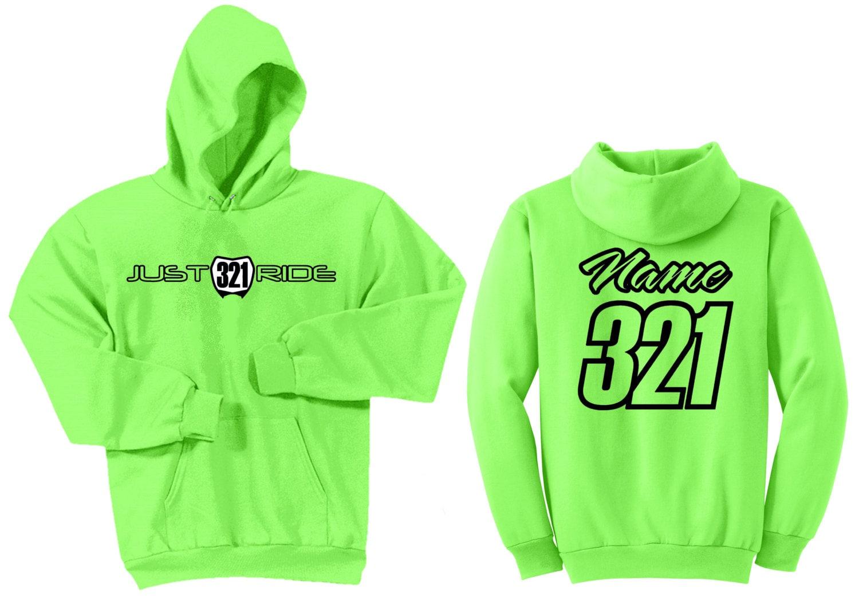 Motocross Motocross Motocross numéro plaque Hoodie Sweat Shirt juste Ride MX Moto Dirt Bike Racing Kawasaki KX vert de chaux 9890ba