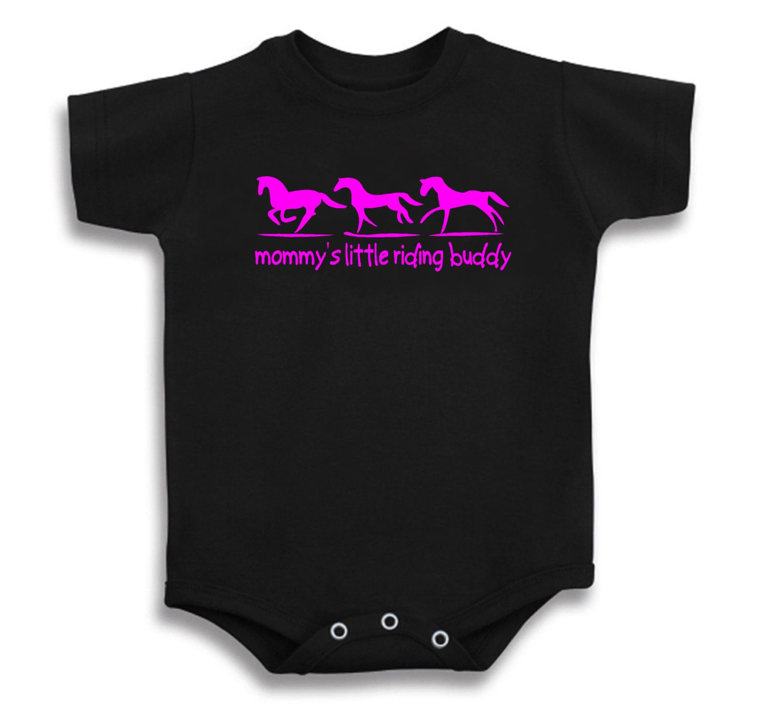e515bcff6ff3a Mommy's Little Riding Buddy Horse Baby T Shirt One Piece Creeper onesie  Infant Just Ride Pony