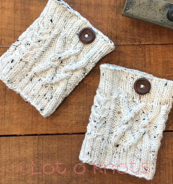 Knitting Pattern For Cabled Boot Cuffs Handknit With Etsy