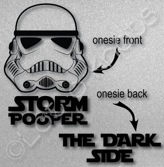 Zip Tie Gun >> Storm Pooper The Dark Side Cute bodysuit design svg dxf | Etsy