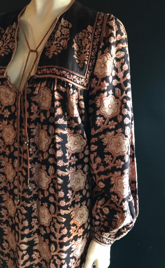 Vintage 1970's Anokhi Floral Paisely India Cotton
